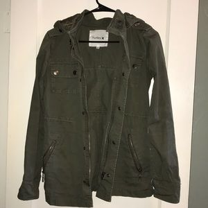 Women's Hurley Army Green Utility Jacket